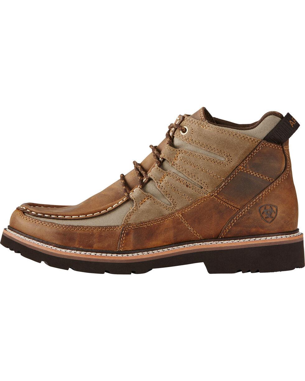 Ariat Men's Exhibitor Moc Toe Shoes, Distressed, hi-res