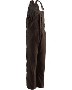 Berne Original Washed Insulated Bib Overalls, Bark, hi-res