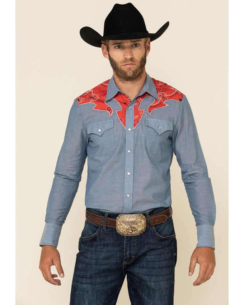 Hbarc Ranchwear Multi San Ysidro Long Sleeve Western Shirt , Multi, hi-res