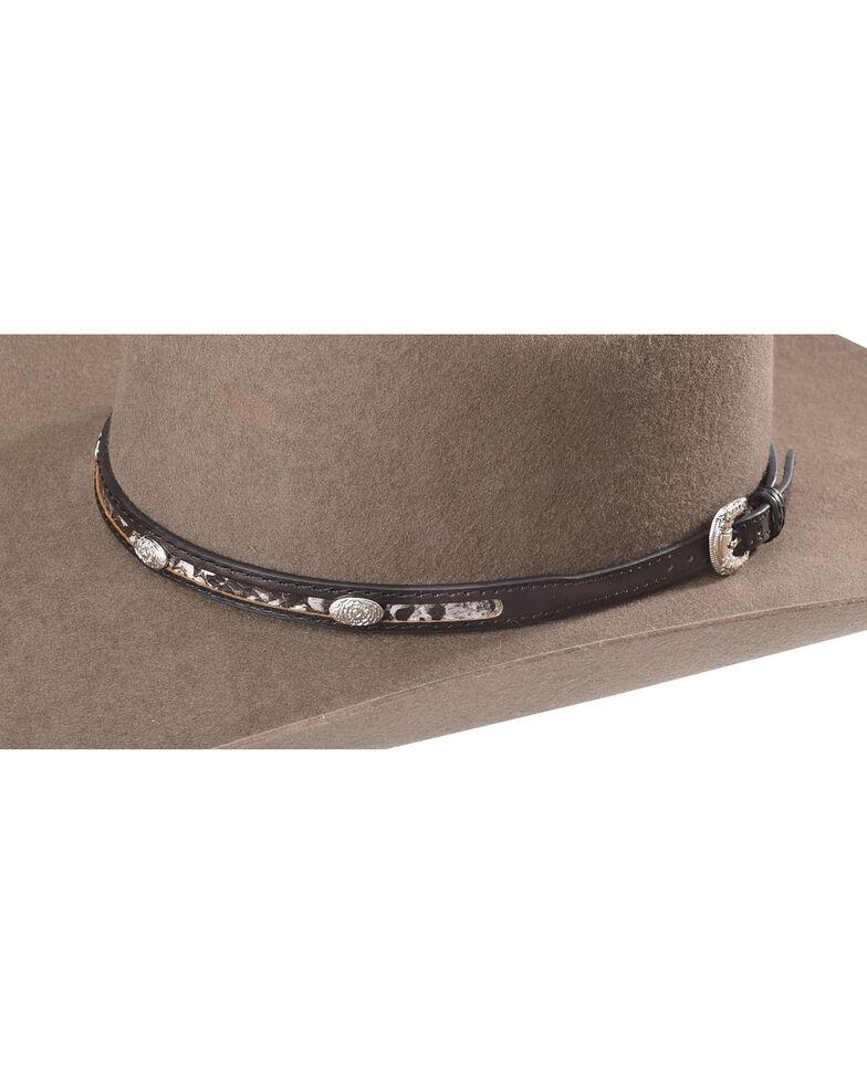 Cody James Men's Snakeskin Hat Band, Black/white, hi-res