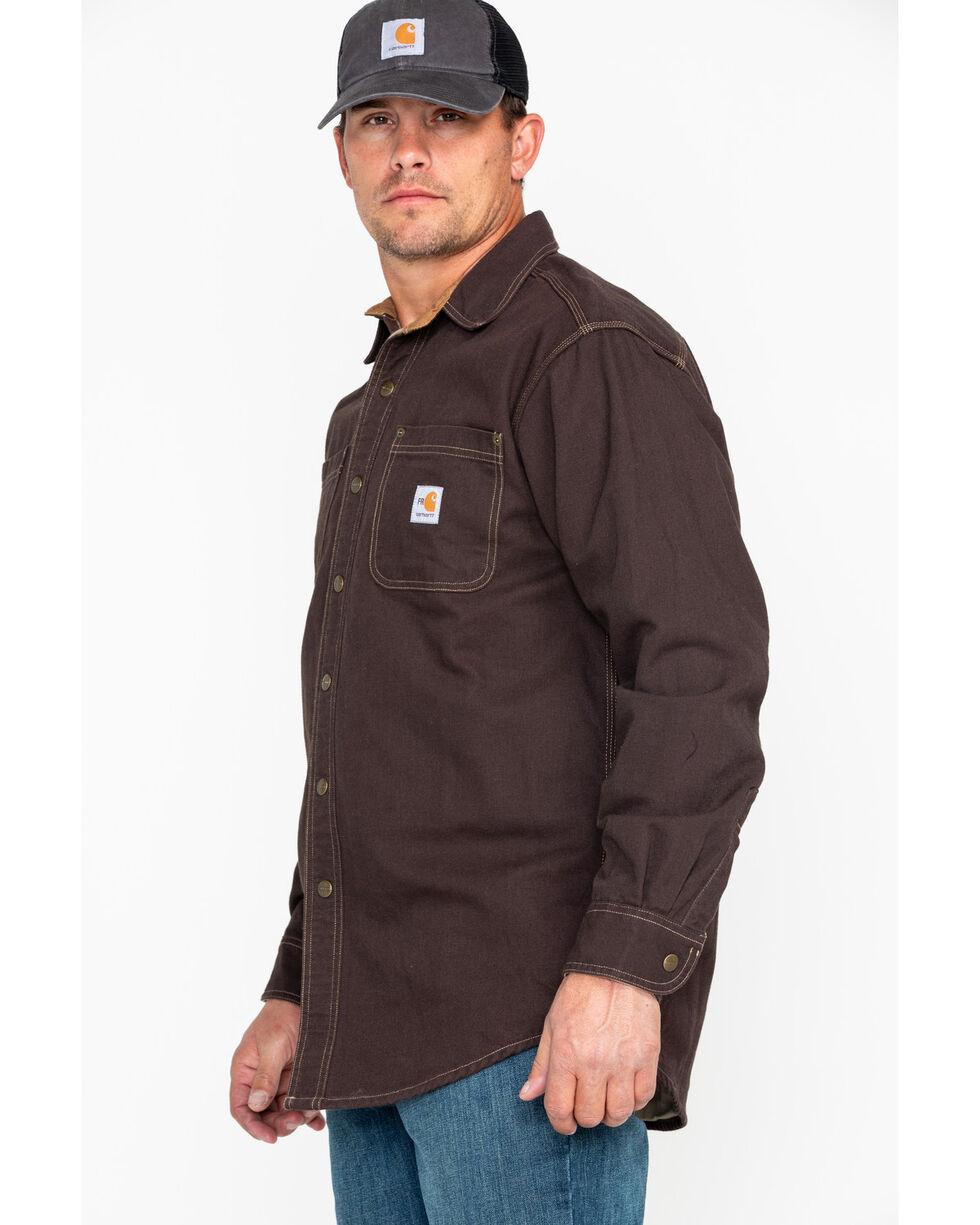 Carhartt Flame Resistant Canvas Shirt Jacket, Dark Brown, hi-res