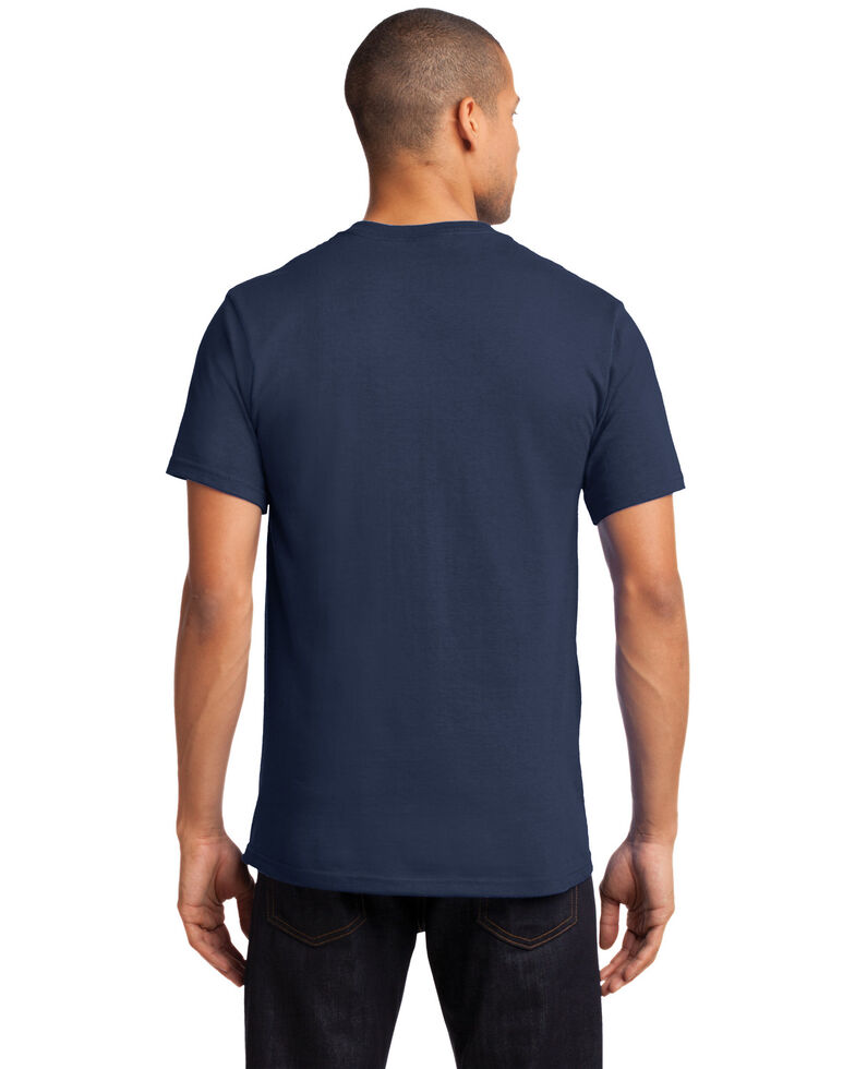 Port & Company Men's Navy 2X Essential Solid Pocket Short Sleeve Work T-Shirt - Big , Navy, hi-res