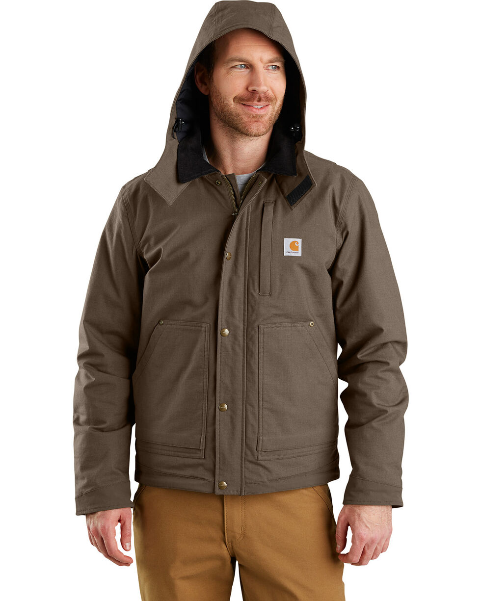 Carhartt Men's Full Swing Steel Jacket, Dark Grey, hi-res