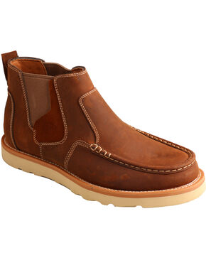 Twisted X Men's Slip On Casual Moc Shoes, Brown, hi-res