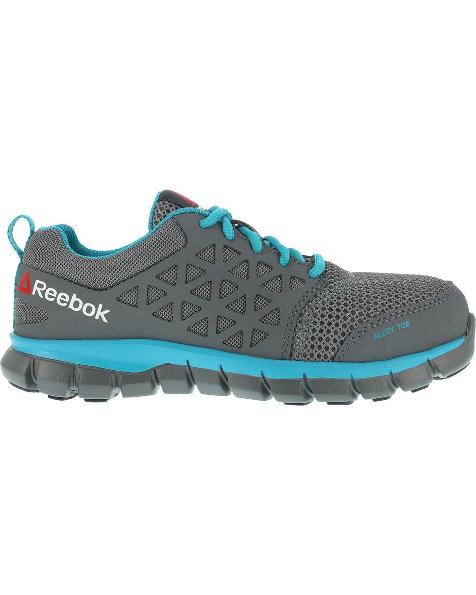 Reebok Women's Sublite Cushion Athletic Work Oxfords - Alloy Toe, Grey, hi-res