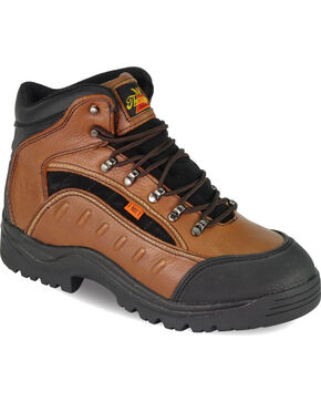 "Thorogood Men's I-MET2 6"" Hiker Work Boots - Steel Toe, Brown, hi-res"