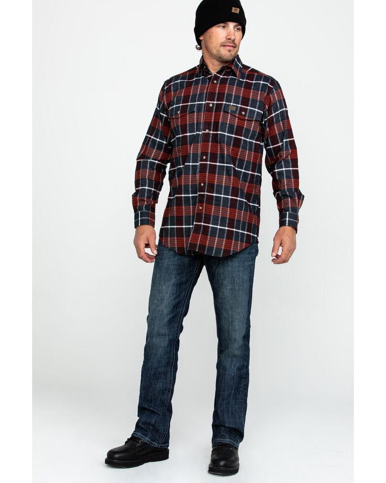 Wrangler Riggs Men's Hooded Flannel Work Jacket , Red, hi-res