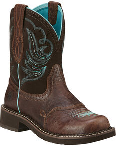 Ariat Women's Fatbaby Heritage Dapper Western Boots, Chocolate, hi-res