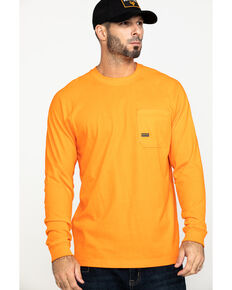 Ariat Men's Orange Rebar Cotton Strong Long Sleeve Work Shirt , Orange, hi-res