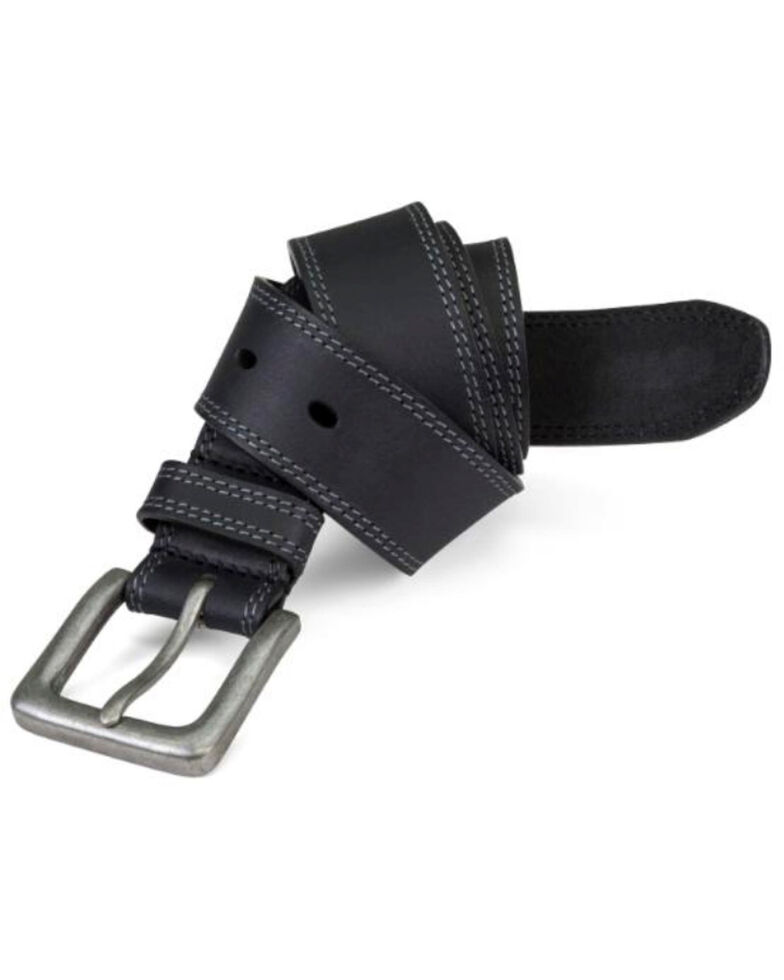 Timberland Pro Men's Black Boot Leather Belt, Black, hi-res
