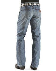 Wrangler Retro Men's Slim Fit Jeans, Worn Denim, hi-res