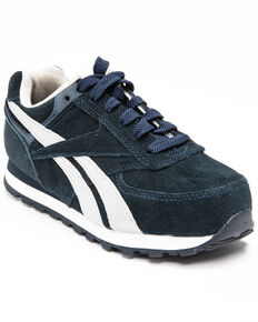 Reebok Women's Leelap Retro Jogger Shoes - Steel Toe, Blue, hi-res