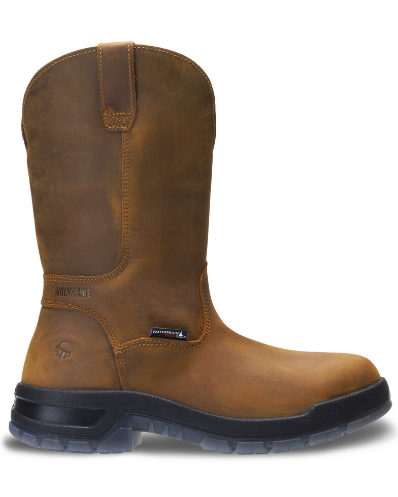 Wolverine Men's Ramparts Western Work Boots - Soft Toe, Tan, hi-res