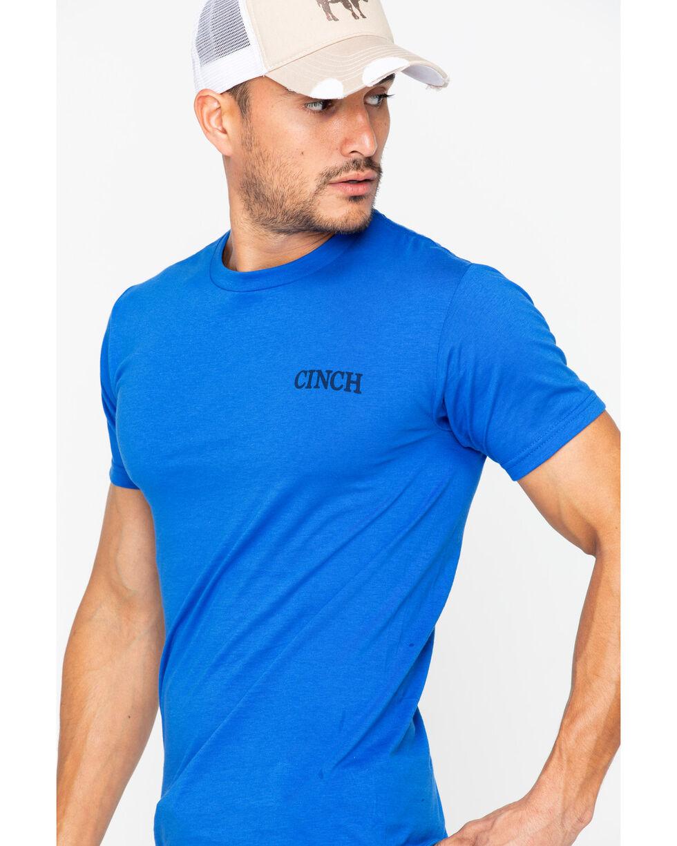 Cinch Men's Short Sleeve 1996 Print Tee , Blue, hi-res