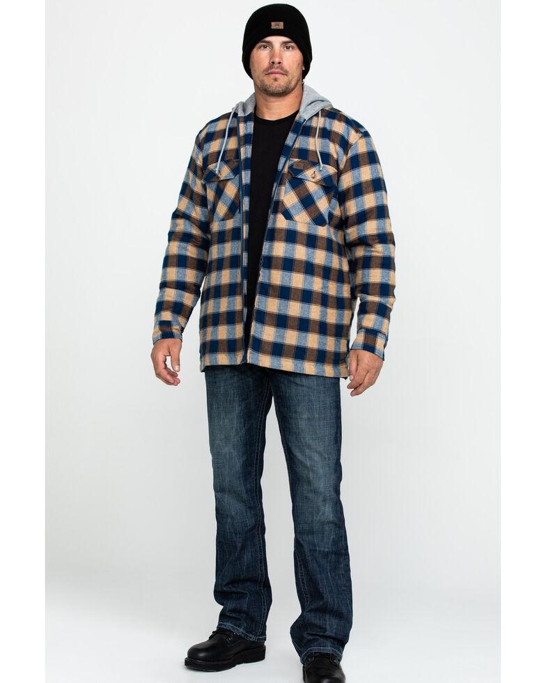 Wrangler Riggs Men's Fleece Hooded Flannel Work Shirt , Navy, hi-res