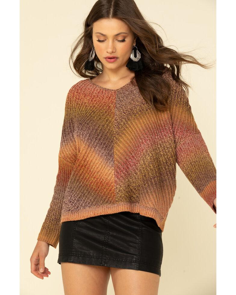 Wrangler Retro Women's Multi Ombre Print Sweater , Multi, hi-res