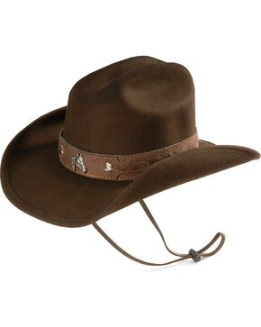 Bullhide Kid's Wool Cowboy Hat, Chocolate, hi-res