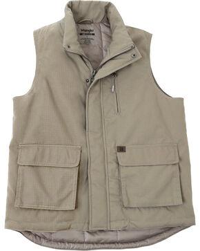 Wrangler Riggs Workwear Men's Foreman Vest, Dark Khaki, hi-res