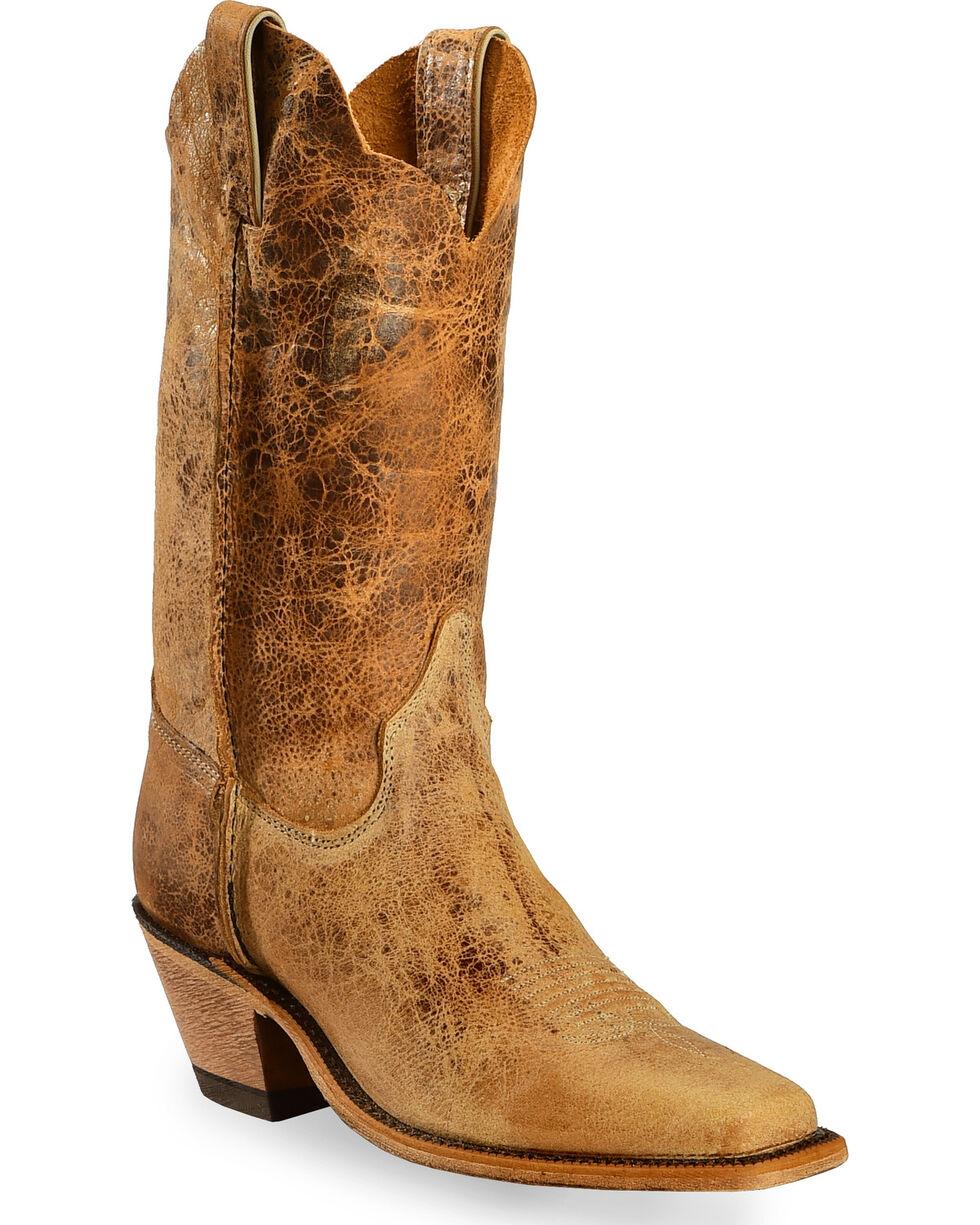 Justin Women's Bent Rail Distressed Western Boots, Tan Distressed, hi-res