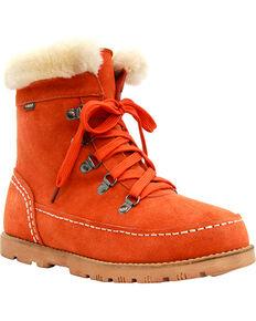 Lamo Footwear Women's Taylor Lace-Up Boots - Round Toe, Orange, hi-res