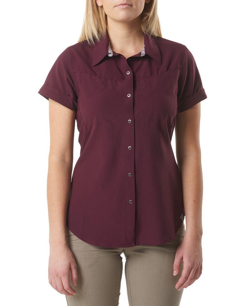 5.11 Tactical Women's Freedom Flex Woven Shirt , Wine, hi-res
