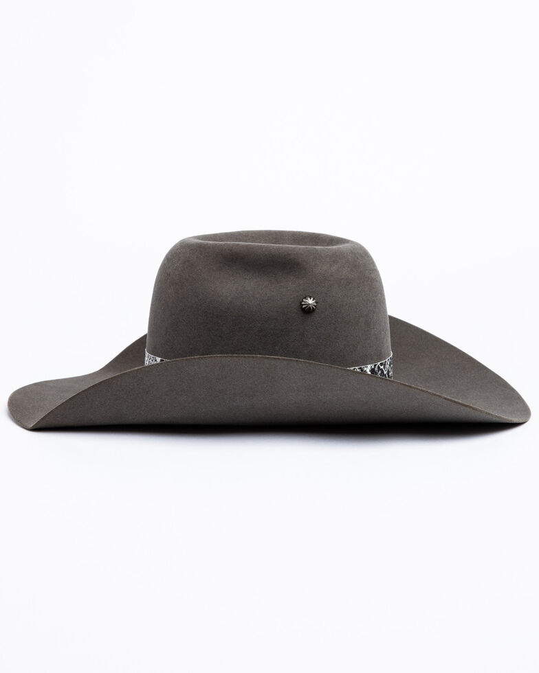 Atwood Hat Co. Women's 5X Grey Liberty Wool Western Hat , Grey, hi-res