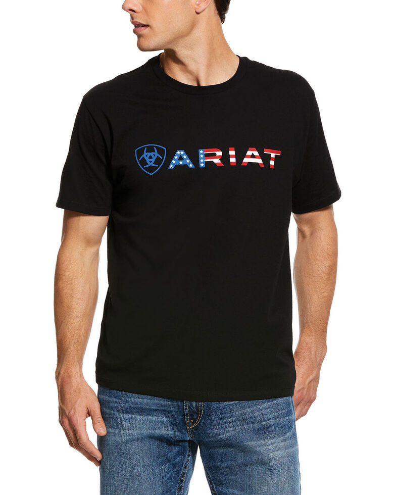 Ariat Men's Black Wordmark Graphic T-Shirt , Black, hi-res