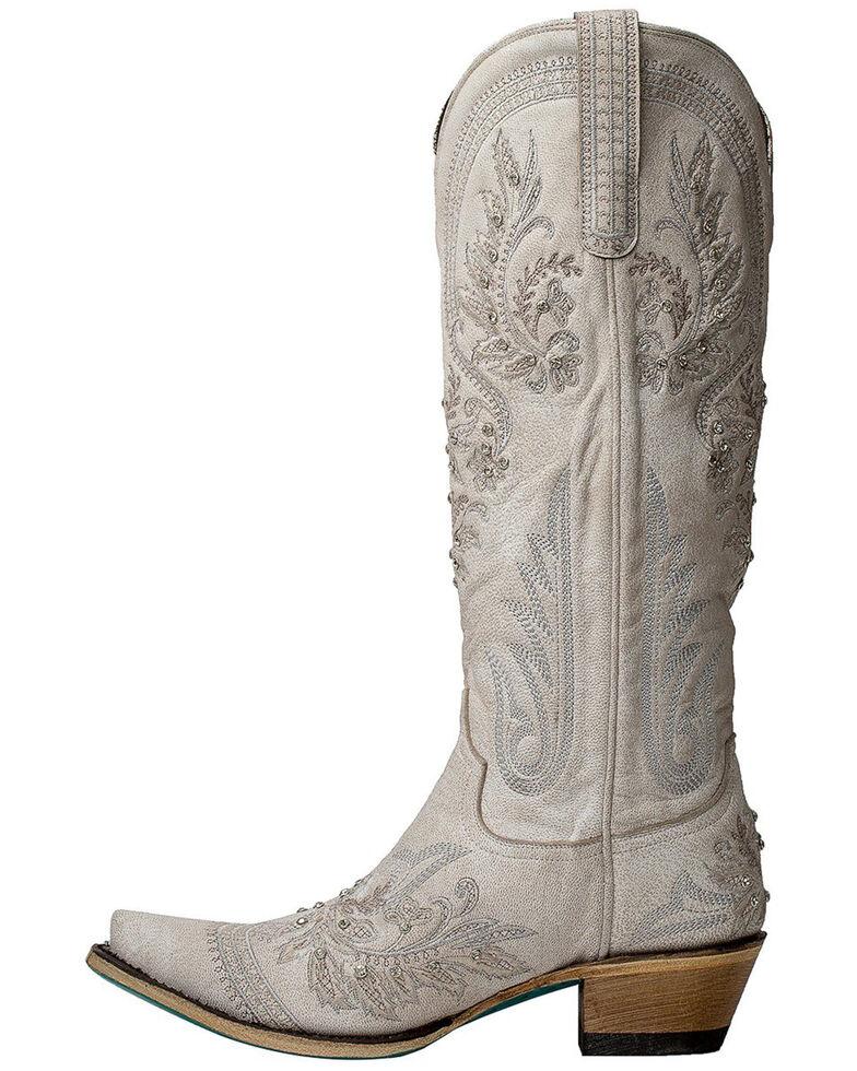 Lane Women's Santorini Western Boots - Snip Toe, White, hi-res