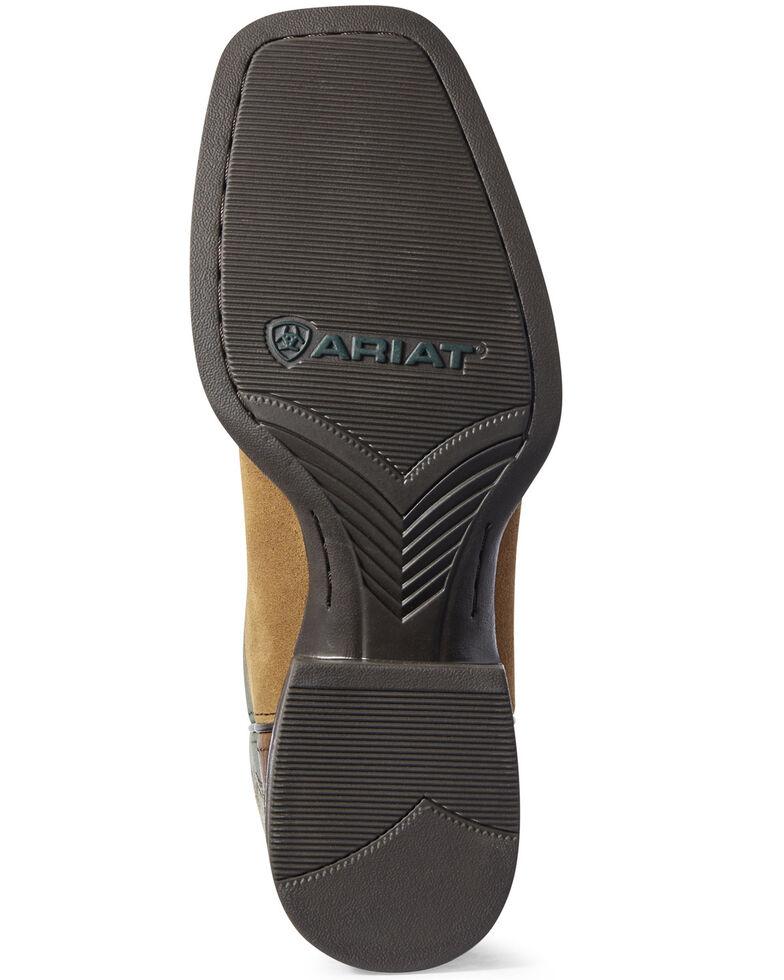 Ariat Men's Peanut Sport Rustler Western Boots - Wide Square Toe, Brown, hi-res
