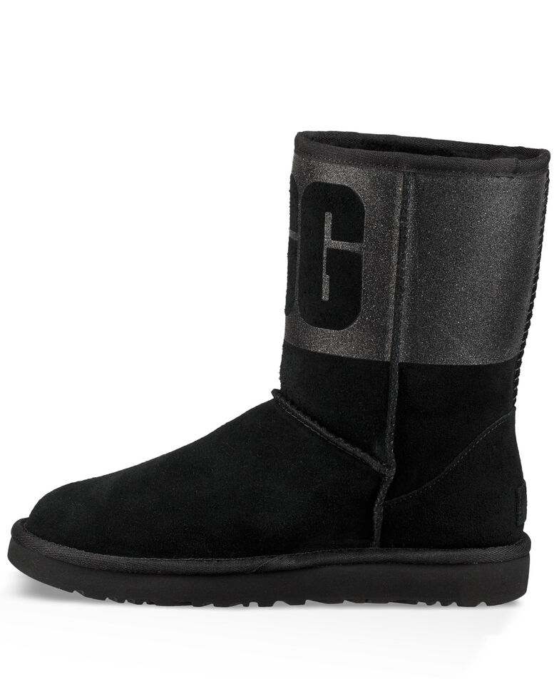84fc0379f57 UGG Women's Classic Short Sparkle Boots - Round Toe