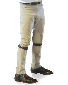 Ovation Boys' Four-Pocket EuroWeave Breeches, Lt Tan, hi-res