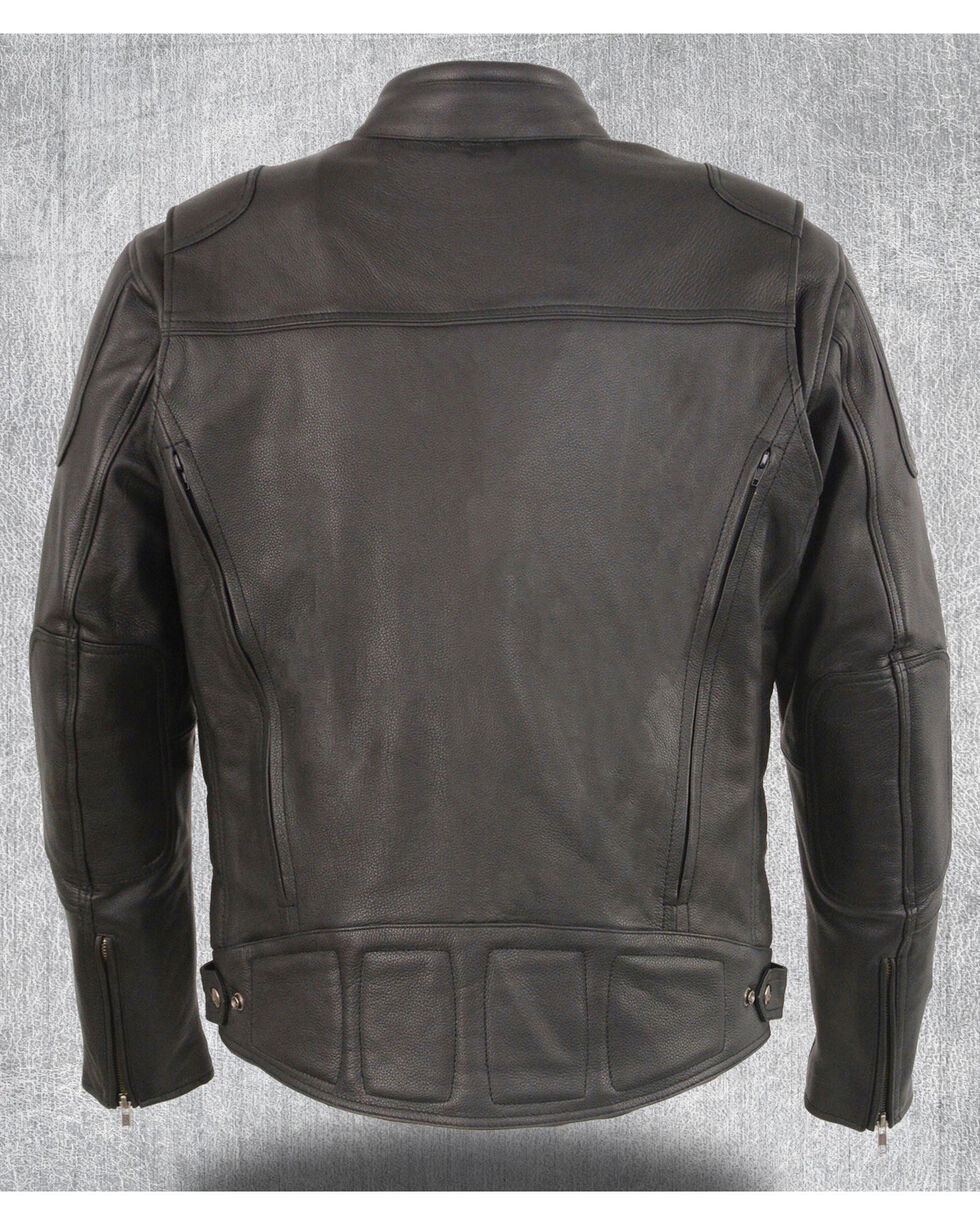 Milwaukee Leather Men's Heated Scooter Jacket - 5X, Black, hi-res