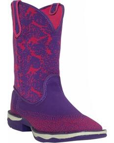 Laredo Women's Berry Performair Western Boots, Purple, hi-res