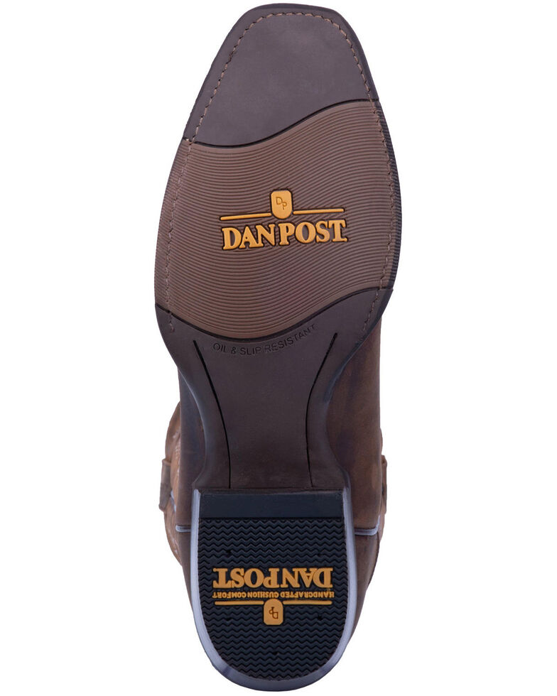 Dan Post Men's Canyon Run Western Boots - Square Toe, Brown, hi-res