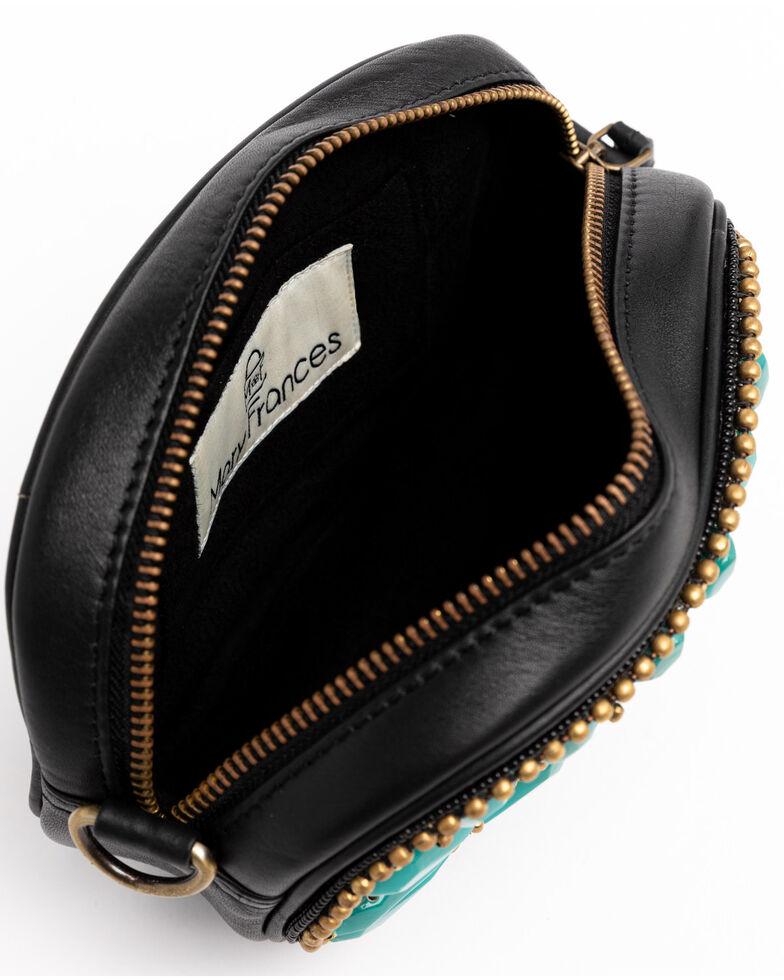 Mary Frances Women's Morocco Embellished Leather Crossbody Bag, Turquoise, hi-res