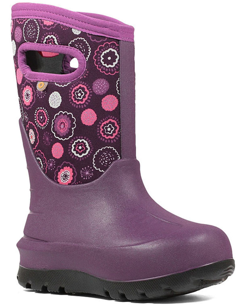 Bogs Boys' Pink Neo-Classic Bullseye Winter Boots - Round Toe, Pink, hi-res