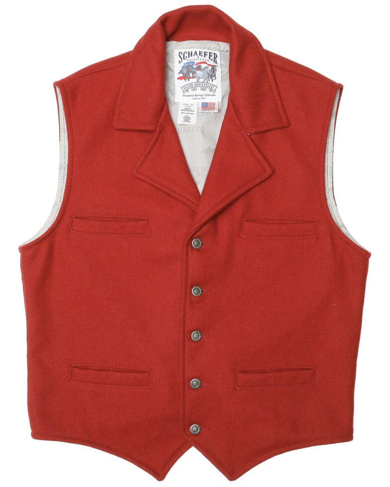 Schaefer Cattle Baron Wool Blend Vest, Red, hi-res
