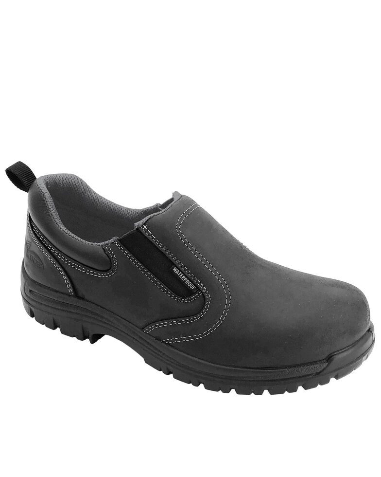 Avenger Women's Foreman Waterproof Work Shoes - Composite Toe, Black, hi-res