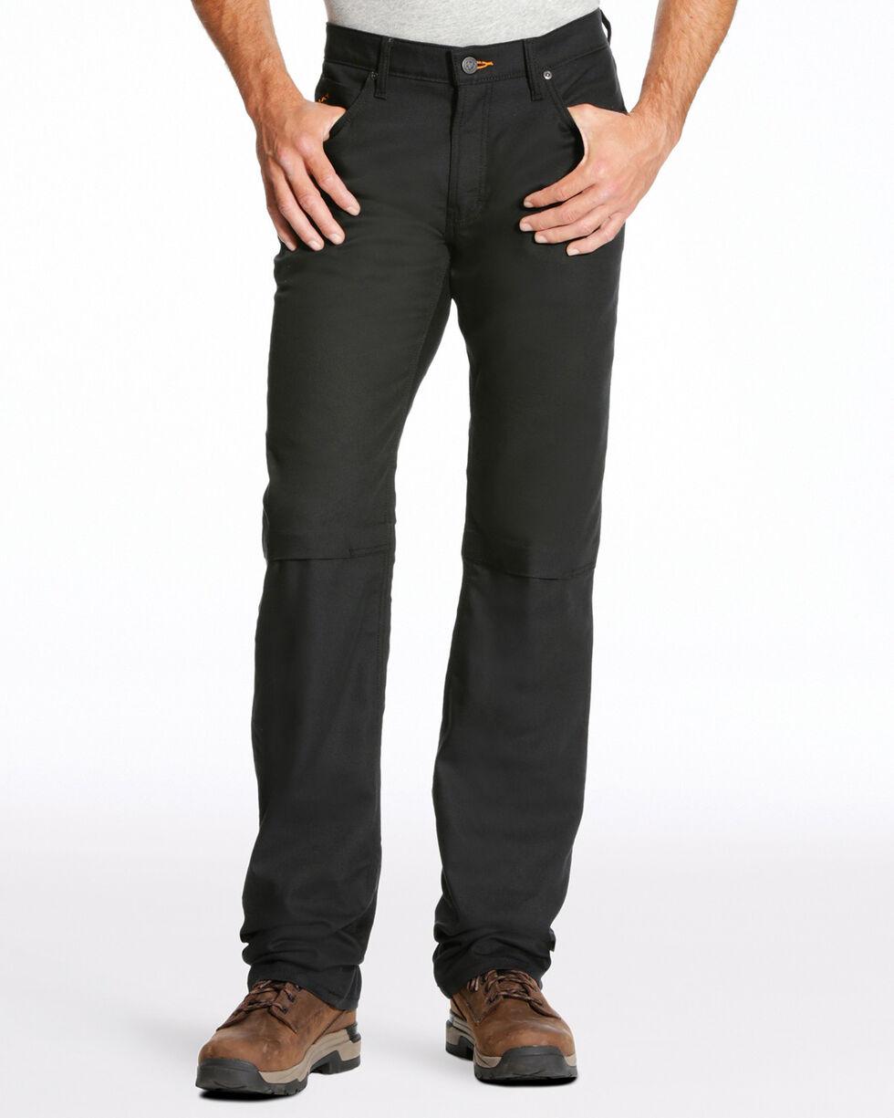 Ariat Men's Rebar M4 Stretch Canvas 5 Pocket Straight Leg Pants - Big , Black, hi-res