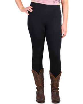 Boom Boom Jeans Women's Plus Leggings, Black, hi-res