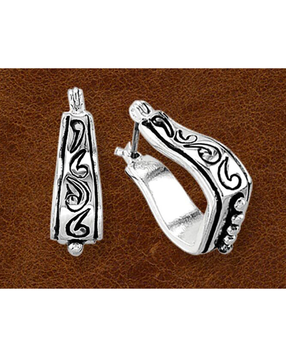 Kelly Herd Sterling Silver Stirrup Earrings, Silver, hi-res