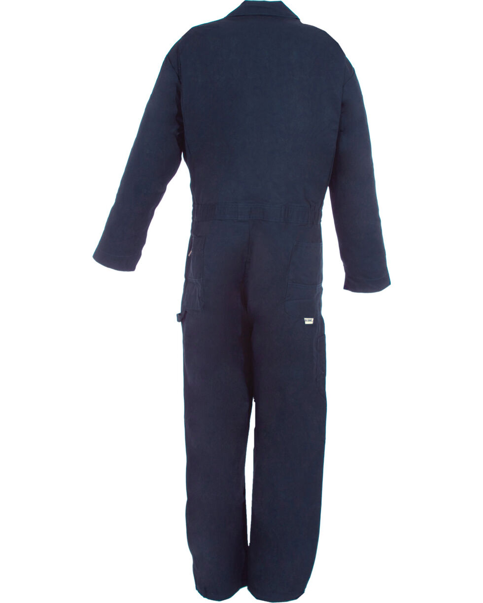 Berne Navy Deluxe Unlined Coveralls - Short 3XL, Navy, hi-res