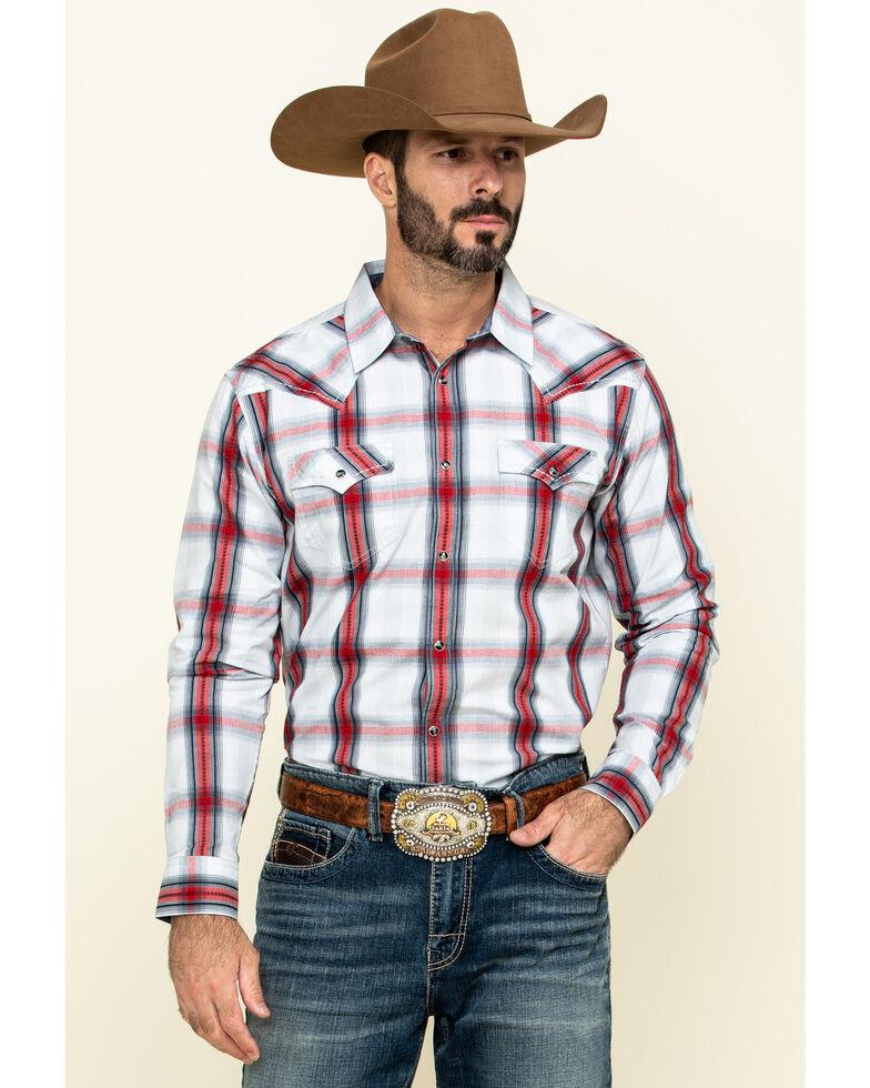 Cody James Men's Rough Talk Plaid Long Sleeve Western Shirt , Red, hi-res