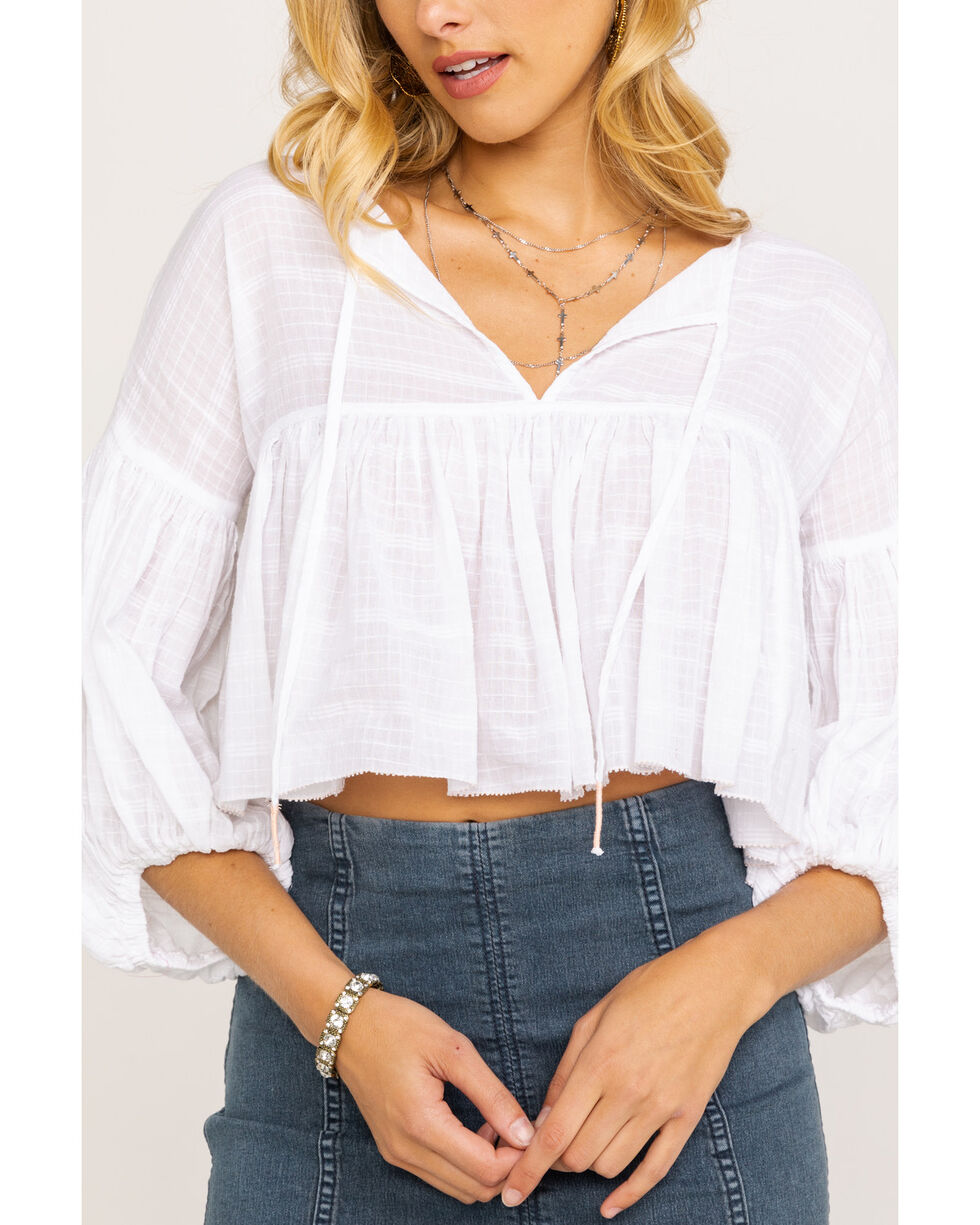 Free People Women's Beaumont Mews Blouse, Ivory, hi-res