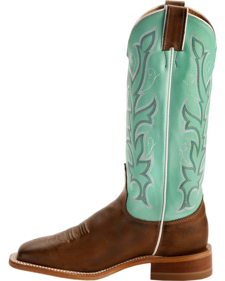 """Justin Bent Rail Women's 13"""" Albany Seagreen Cowgirl Boots - Square Toe, , hi-res"""