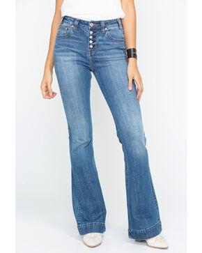 Panhandle Women's Basic Pocket High Rise Trouser , Blue, hi-res