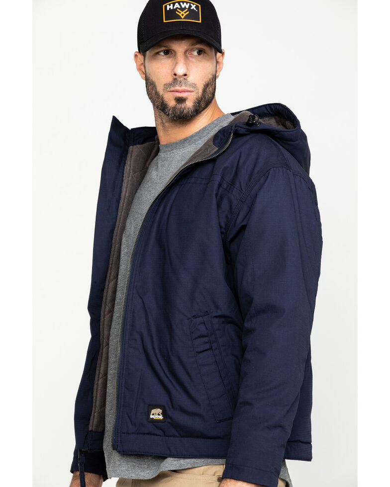 Berne Men's Navy Torque Ripstop Hooded Work Jacket - Tall , Navy, hi-res