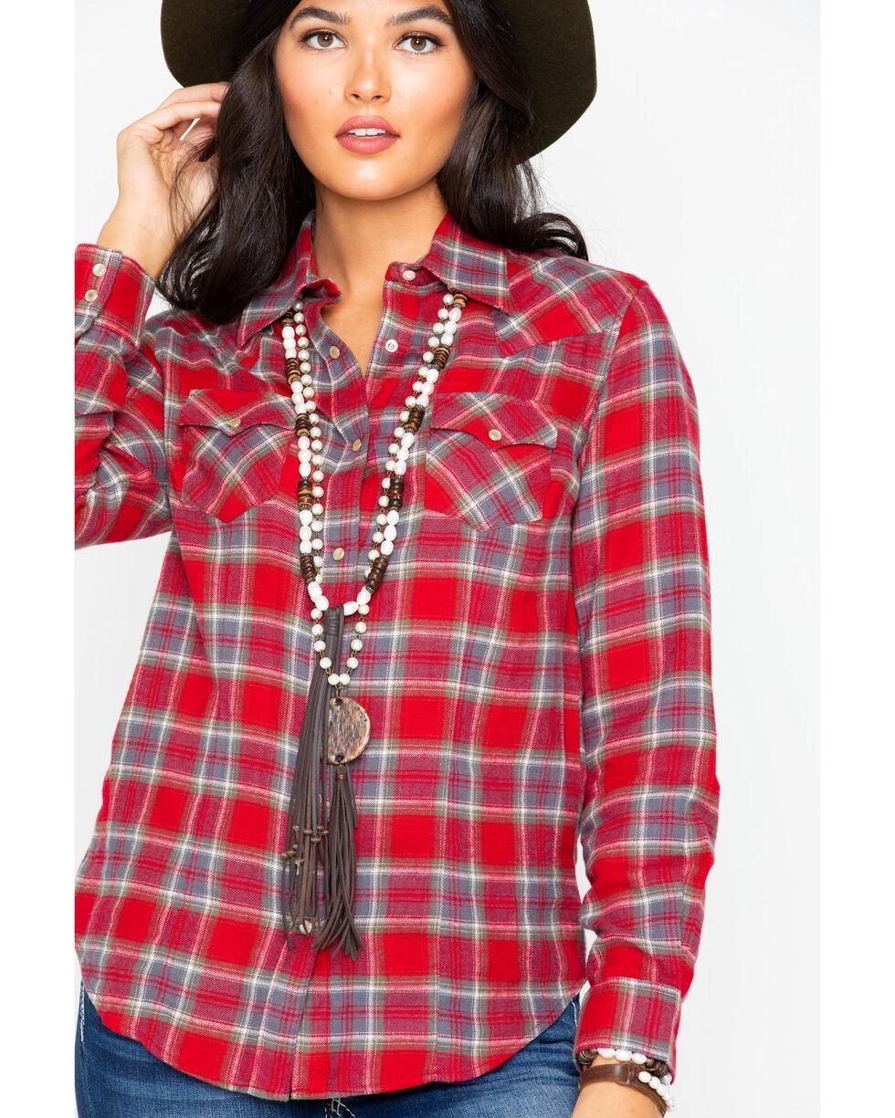 Wrangler Women's Plaid Long Sleeve Flannel Shirt , , hi-res