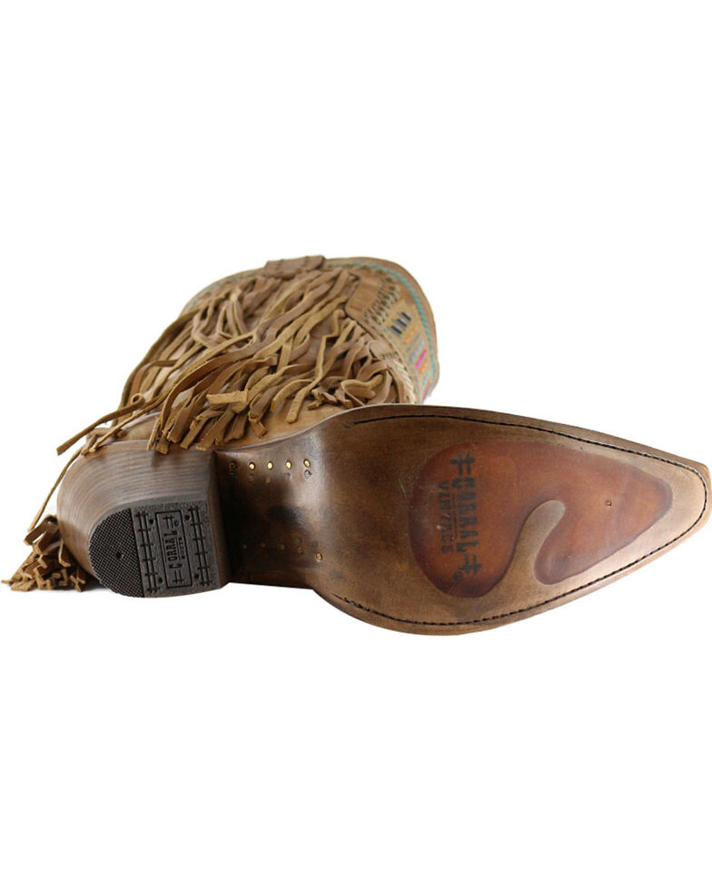 d808dabd063 Corral Women's Aztec & Fringe Snip Toe Western Boots