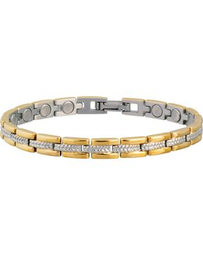 Sabona Ladies' Executive Regal Duet Magnetic Bracelet, Gold, hi-res